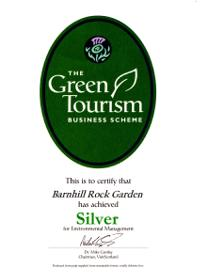 Green Tourism silver certificate