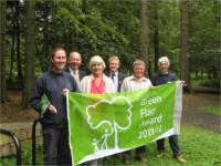 Gardener, Michael Laird with the Environment Director, Isobel Turner, Alan Ross, John Grocott and Mary Saunders