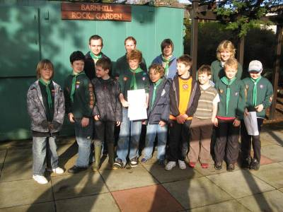 Monifieth Cub Scouts at the Garden