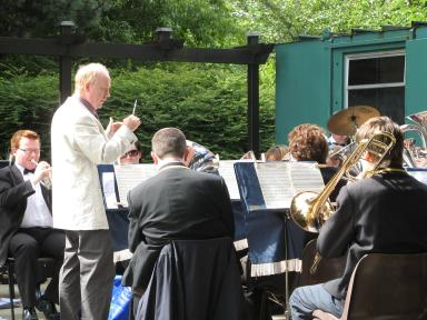 Tayport Instrumental Band at the Rock Garden on Sunday, August 16 entertainingd an audience of over 90 people