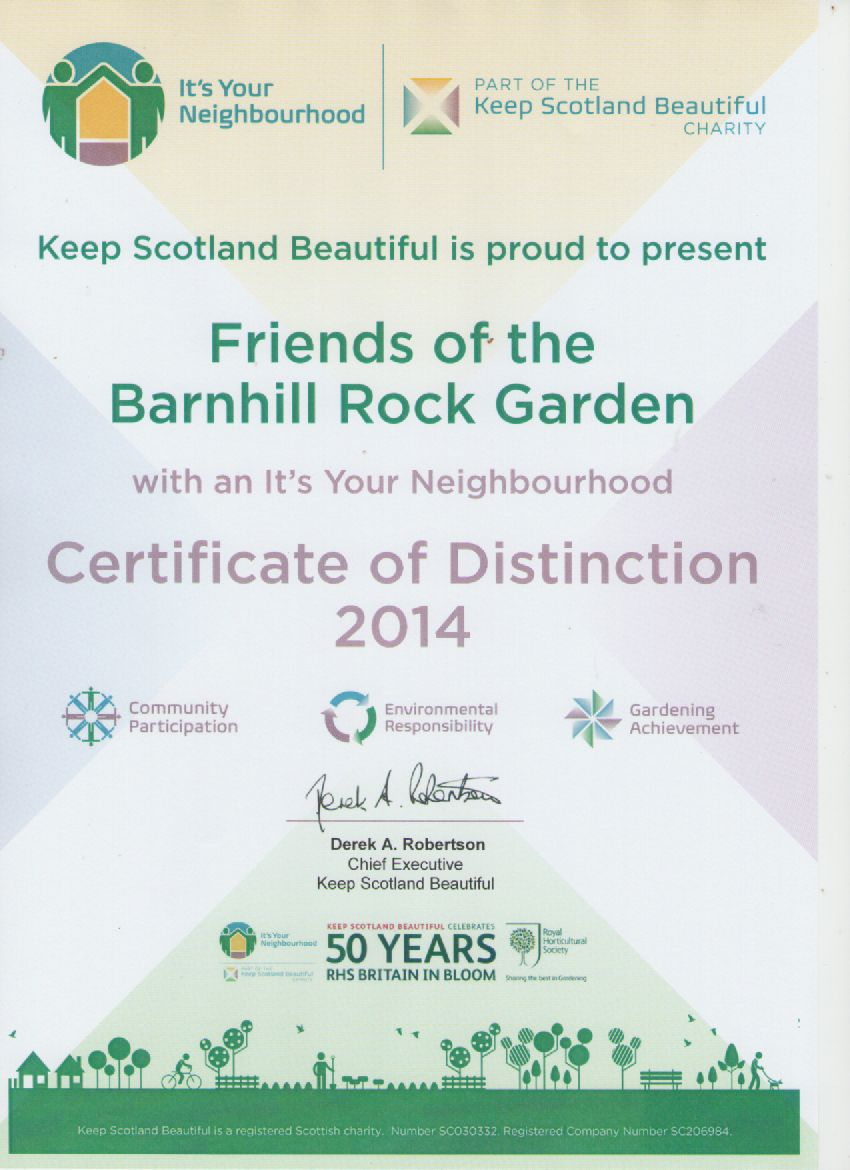 It's your neighbourhood certificate of distinction 2014