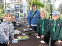 Lisa Tennant with Monifieth cub scouts in Geddes Glasshouse