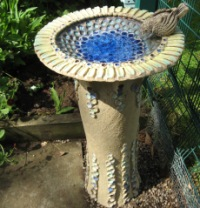 Bird bath gifted by the Friends