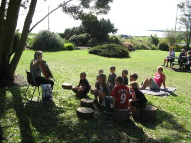 The last of the children's events in the Garden took place on Thursday, 13 th August with story-reading by one of our local librarians