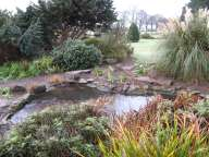 water feature in winter